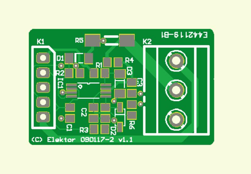 Sailor's Battery Meter sensor PCB (090117-2)