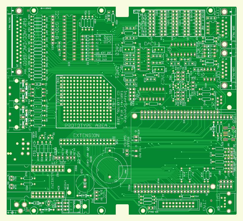 Carte d'extension pour microcontrôleur (Platine PCB Shop)