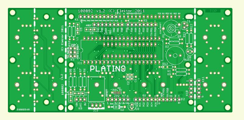 Platine polyvalente pour montages à microcontrôleur(s) AVR (Platino)