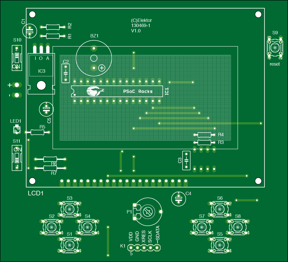 SAME: Chip-8 Video Games Emulator PCB (130469-1)