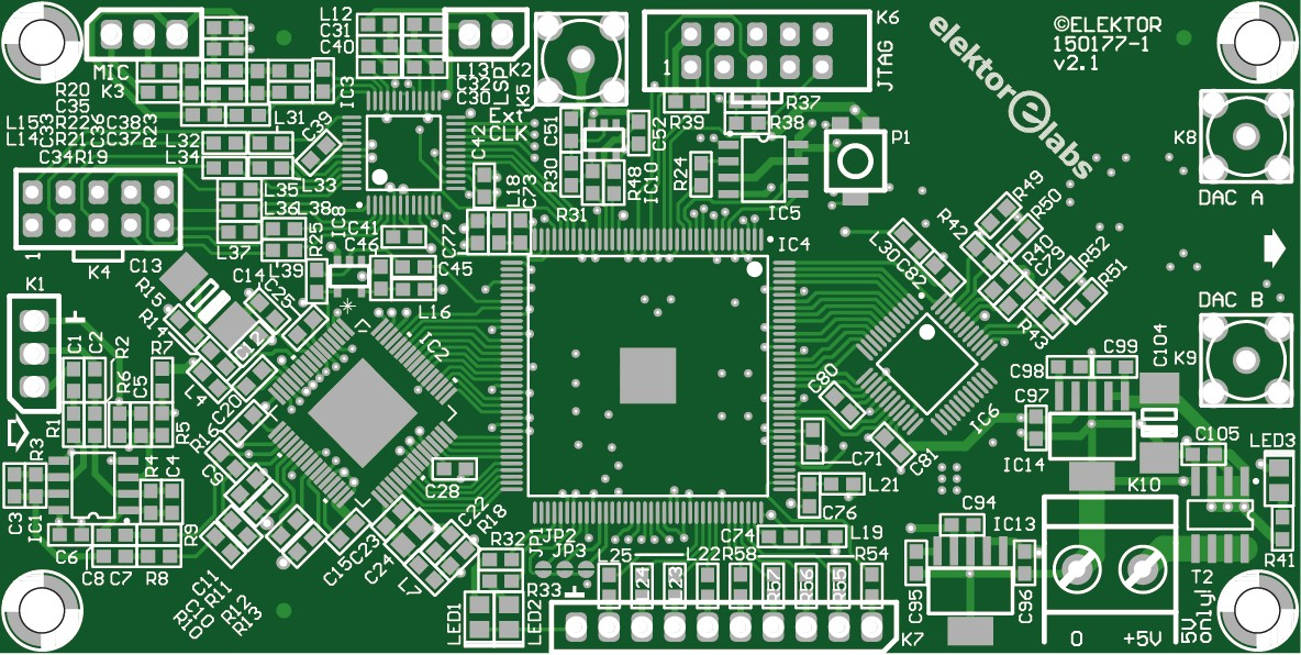 FPGA-DSP Board for Narrowband SDR mainboard - bare PCB V2.1 (150177-1)