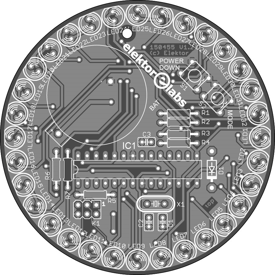 Glittering LED Circle with Arduino (150455-1)