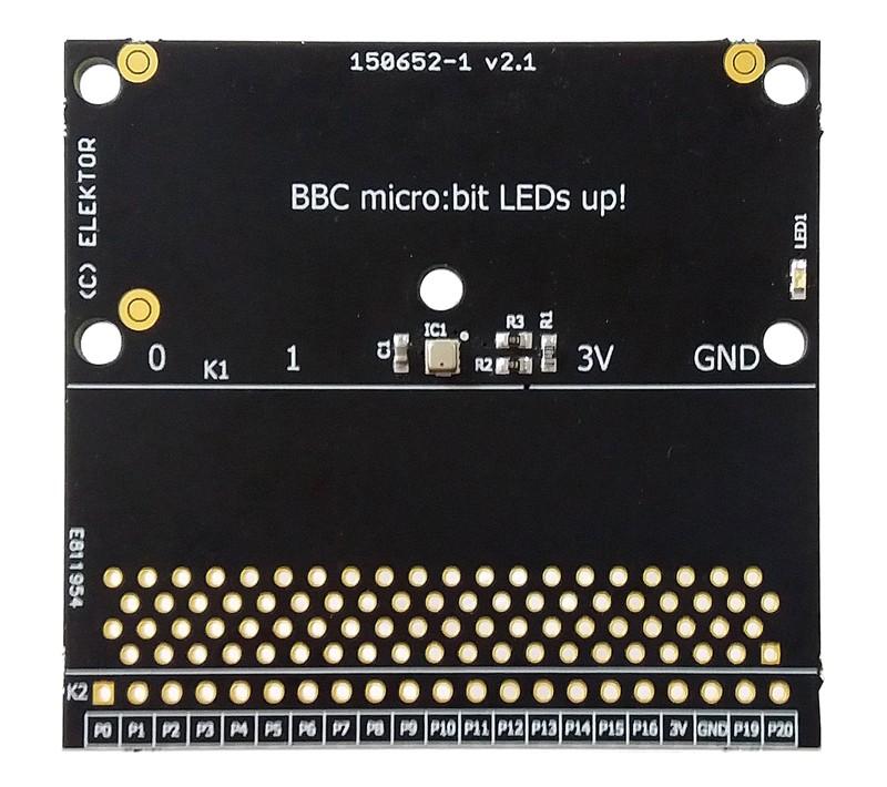carte d'extension pour BBC micro:bit - circuit imprimé avec CMS (150652-71)