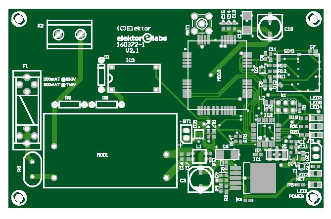Mains Outage Detector - bare PCB (160372-1)
