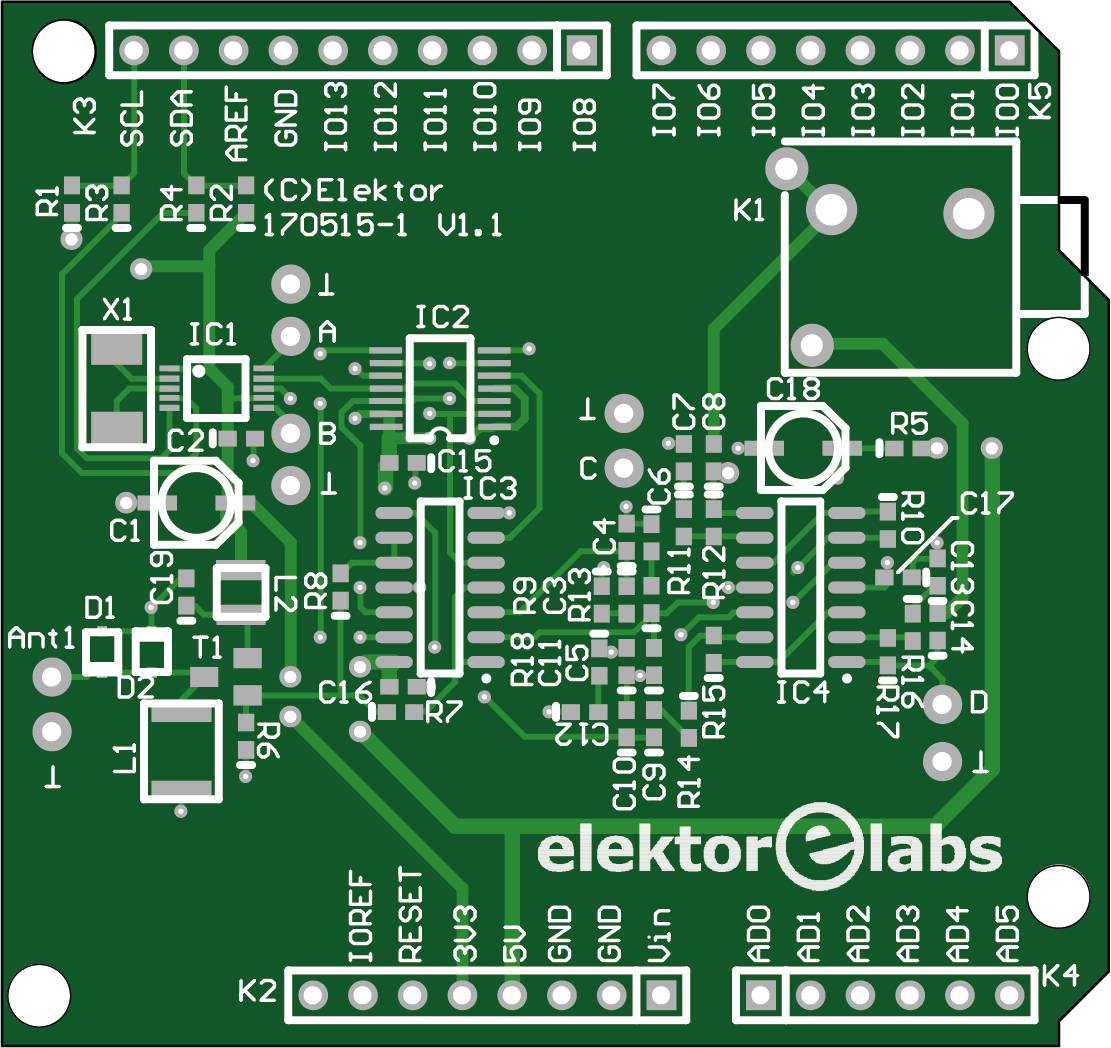 Elektor SDR Shield 2.0 - bare PCB (170515-1)