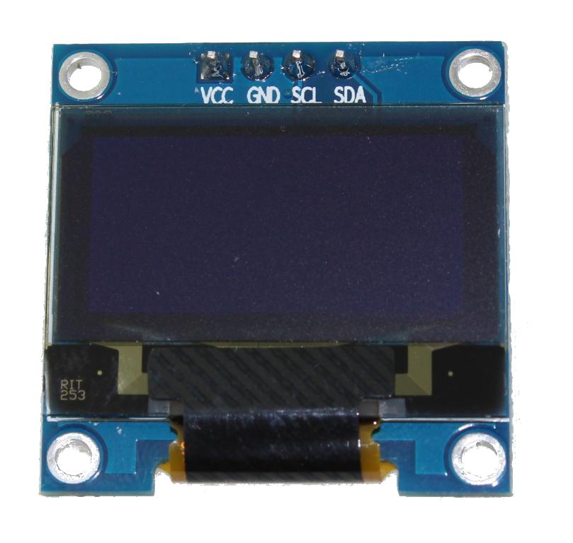 "Blue 0.96"" OLED display I²C 4-pin"