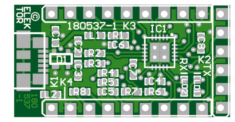 USB-RS232 converter (FT231X BoB) - Bare PCB (180537-1)