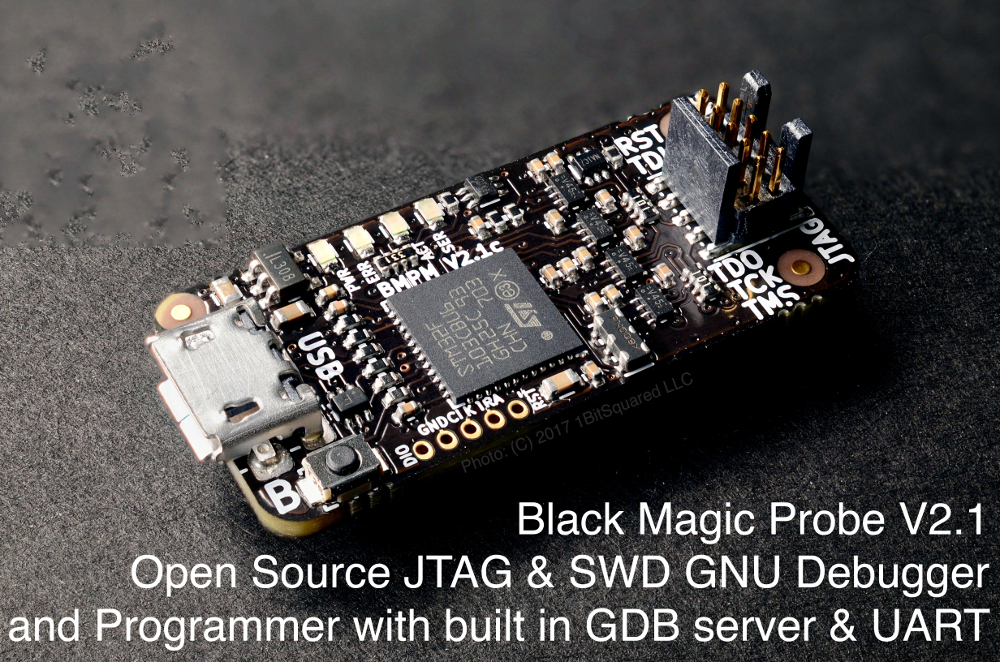 Black Magic Probe V2.1 – JTAG & SWD ARM debugger