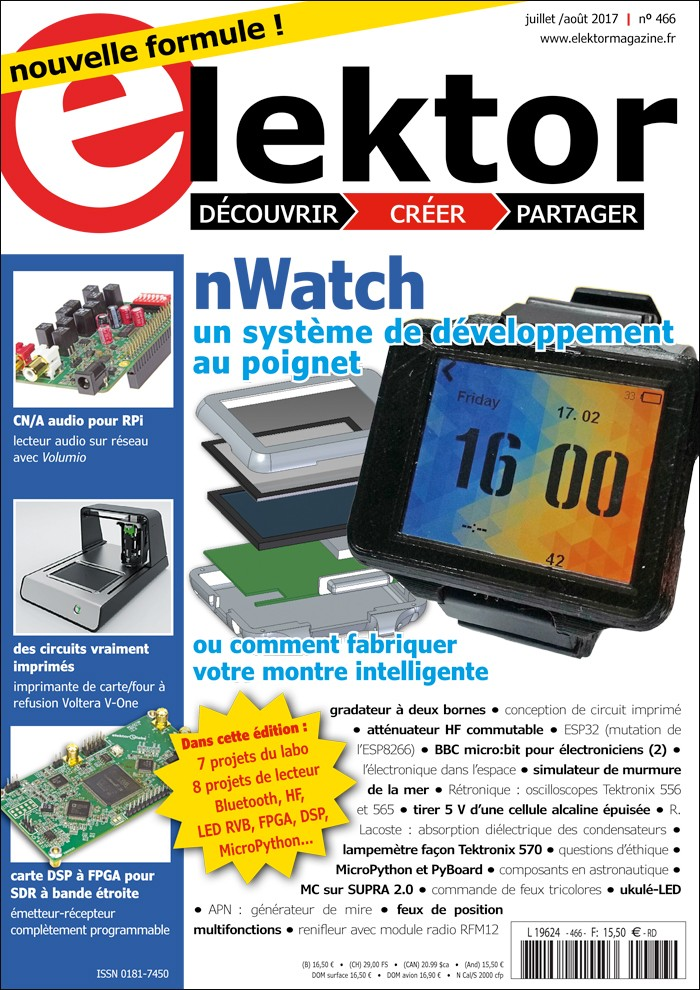 Elektor Magazine FR Juillet/Août 2017