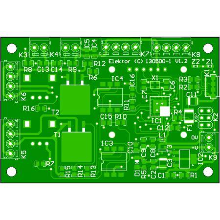3D Printer Head and Mat Temperature controller - bare PCB (130500-1)