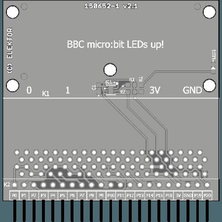 carte d'extension pour BBC micro:bit  - circuit imprimé (150652-1)