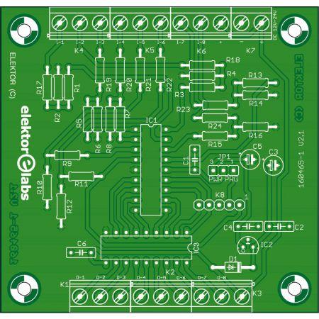 PLC-Ldmicro (traffic light) bare PCB