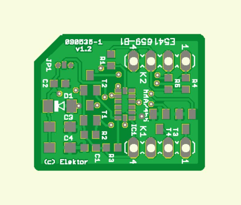 DIP Accelerometer PCB
