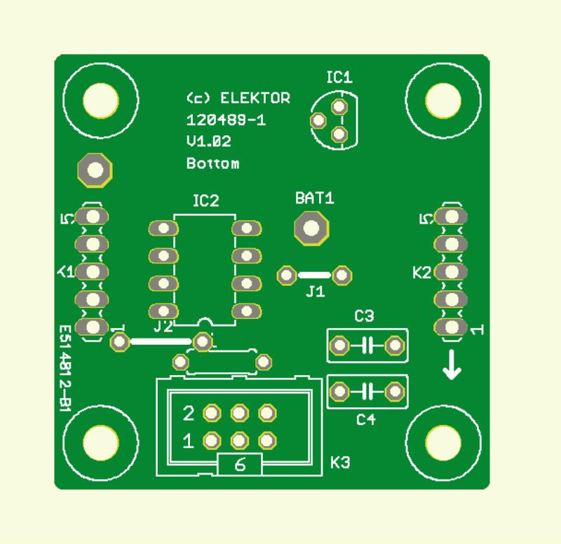 bougie à LED bicolore (Circuit imprimé du contrôleur)