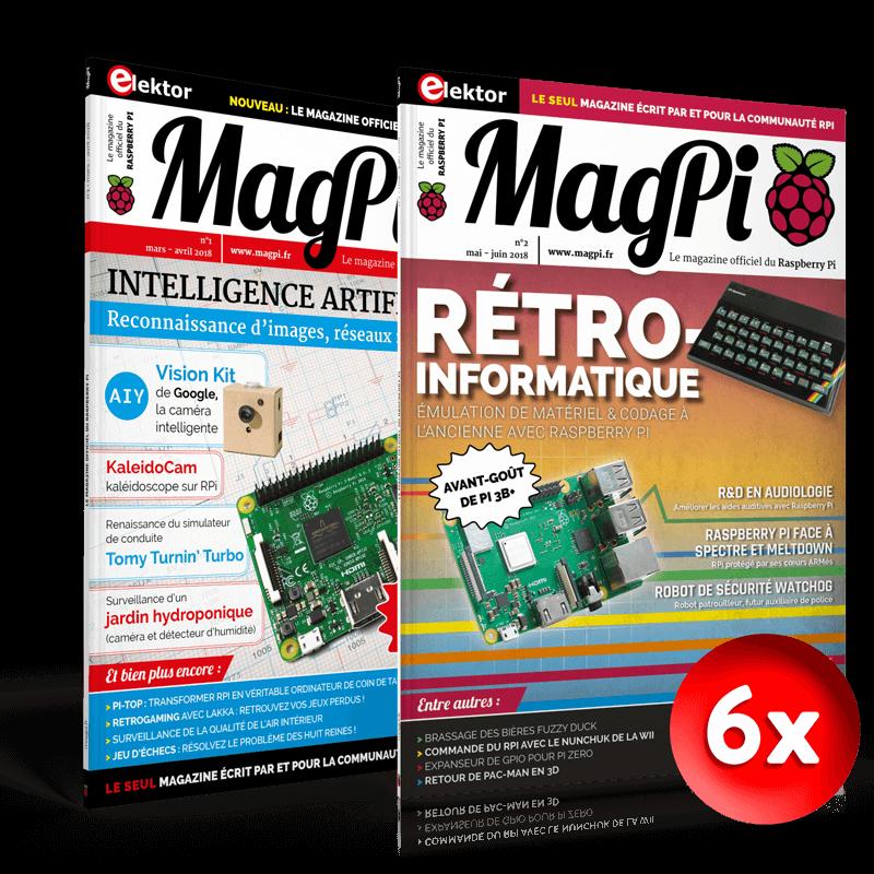 Abonnement MagPi d'un an (6 numéros)
