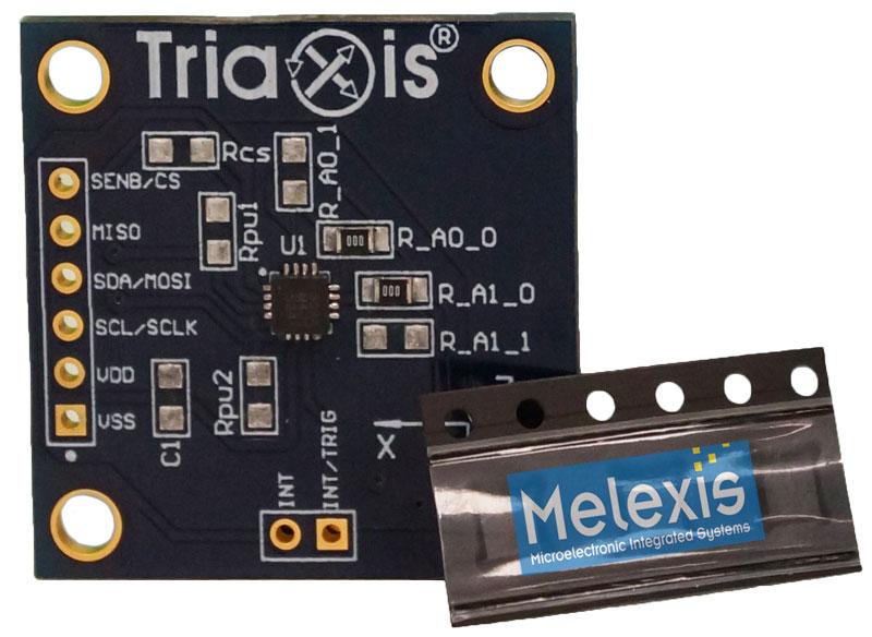 Carte d'évaluation Melexis pour magnétomètre programmable MLX90393