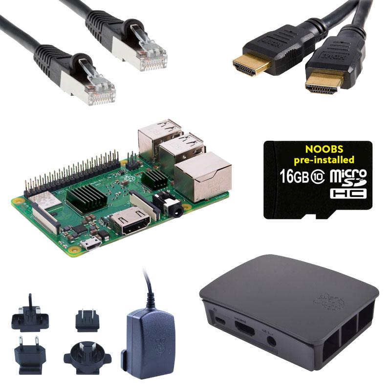 Kit de démarrage (de luxe) Raspberry Pi 3 B+ avec Compilation RPi GRATUITE