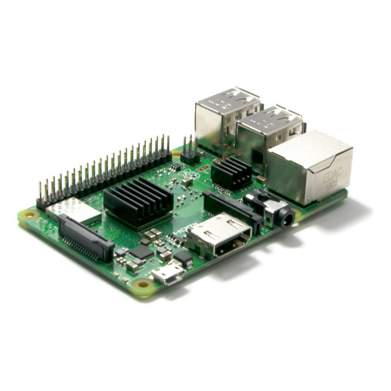 Raspberry Pi 3 B+ (avec radiateurs installés)