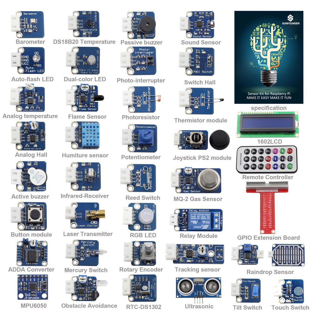 SunFounder Sensor Kit V2.0 for Raspberry Pi