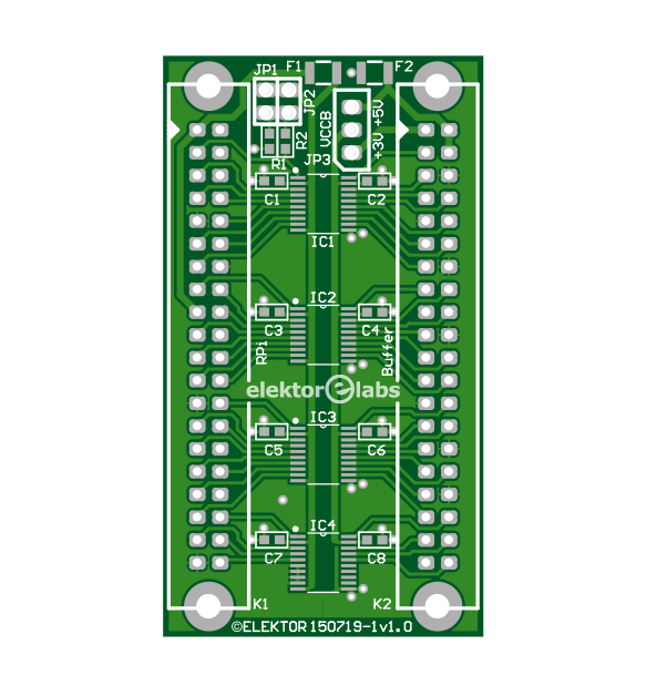 RasPi buffer board - bare PCB (150719-1)