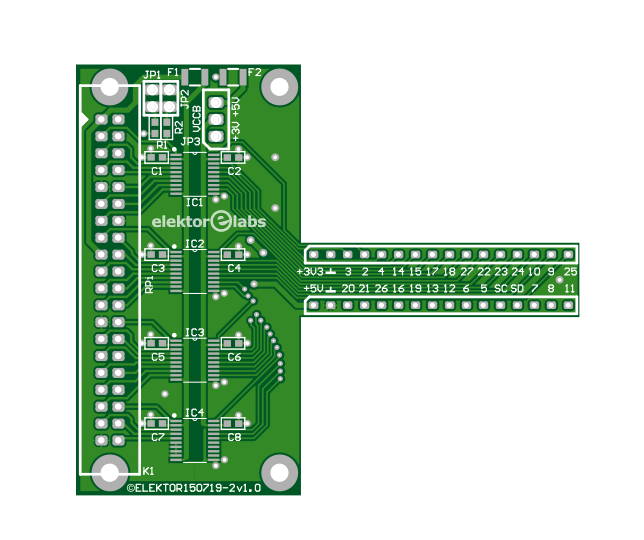 RasPi buffer board - bare PCB (150719-2)